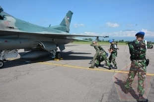Indonesian air force aircraft. Photo taken from the TNI's official website.