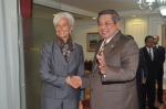 SBY and Lagarde from SBY official facebook account