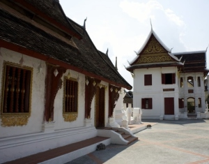 One of the unique architecture in the city of Luang Prabang.
