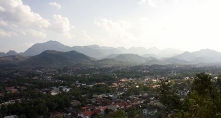 Aerial view of Luang Prabang, Laos.