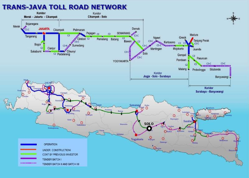 The planned trans java toll network.