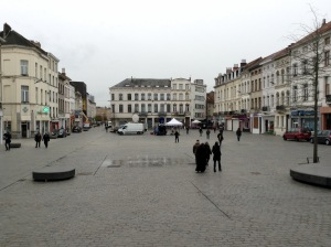 The town square of Brussels' Molenbeek. Photo: The Parrot/Ismira Lutfia Tisnadibrata