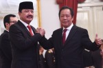 Budi Gunawan (left) appointed as the new spy chief (BIN) replacing Sutiyoso (right) , Photo was taken from setkab.go.id